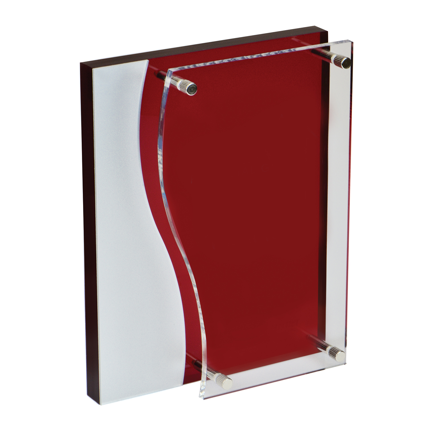 Bilevel Red Acrylic Award
