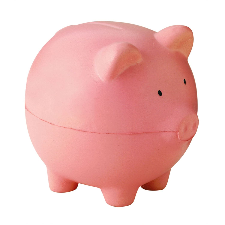 Pink Piggy Bank Stress Shape
